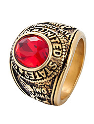 cheap -Men's Statement Ring - 8 / 9 / 10 Black / Red / Dark Green For Daily / Street
