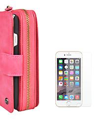 Недорогие -Кейс для Назначение Apple iPhone 8 iPhone 6 Бумажник для карт Кошелек Флип Магнитный Сплошной цвет Твердый Кожа PU для iPhone 8 Pluss