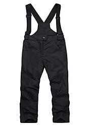 abordables -Pantalones de Esquí Templado, Humedad, Resistente al Viento Esquí / Senderismo Poliéster Pantalones de babero de nieve Ropa de Esquí