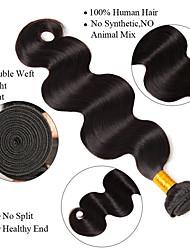 abordables -Cheveux Brésiliens Ondulation naturelle Tissages de cheveux humains 3pcs Tissages de cheveux humains