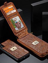 economico -Custodia Per Apple iPhone X iPhone 8 Porta-carte di credito A portafoglio Resistente agli urti Con supporto Con chiusura magnetica