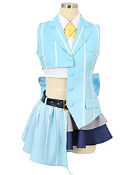 cheap -Inspired by Macross Frontier Cosplay Anime Cosplay Costumes Cosplay Suits Other Sleeveless Cravat Shirt Top Skirt Bow More Accessories