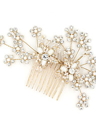 cheap -Rhinestone Hair Combs with Rhinestone Imitation Pearl 1pc Wedding Party / Evening Headpiece