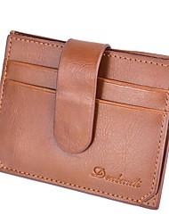Недорогие -Муж. Мешки PU Бумажники Несколько слоев Черный / Коричневый / Темно-коричневый