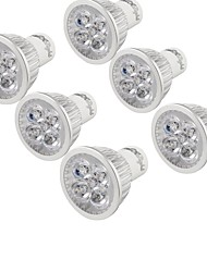 cheap -YouOKLight 6pcs 4W 320lm GU10 LED Spotlight 4 LED Beads High Power LED Decorative Warm White 85-265V