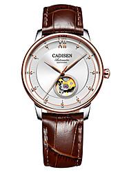 Недорогие -CADISEN Муж. С автоподзаводом Механические часы Нарядные часы Модные часы Японский Защита от влаги Повседневные часы Натуральная кожа