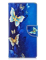 Недорогие -Кейс для Назначение Sony Xperia L2 Xperia XA2 Ultra Бумажник для карт Кошелек со стендом Флип С узором Чехол Бабочка Твердый Кожа PU для