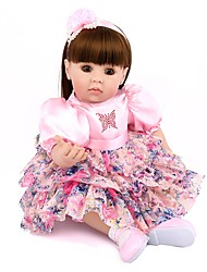 cheap -NPK DOLL Reborn Doll Baby Girl 20 inch Silicone / Vinyl - lifelike, Hand Applied Eyelashes, Tipped and Sealed Nails Kid's Unisex Gift / Natural Skin Tone / Floppy Head