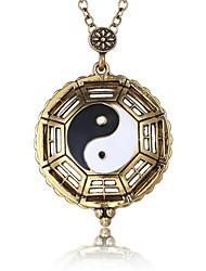 Недорогие -Муж. Ожерелья с подвесками - Природа, Мода Античная бронза Ожерелье Бижутерия 1 Назначение Для вечеринок, Школа