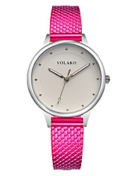 baratos -Mulheres Relógio de Moda Chinês Relógio Casual Outro Banda Colorido / Minimalista Preta / Azul / Prata