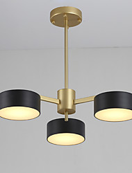 Недорогие -3-Light Люстры и лампы Потолочный светильник - Мини, 110-120Вольт / 220-240Вольт Светодиодный источник света в комплекте / 15-20㎡ / FCC