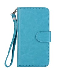 Недорогие -Кейс для Назначение Apple iPhone X iPhone 7 Plus Бумажник для карт со стендом Магнитный Чехол Сплошной цвет Твердый Кожа PU для iPhone X
