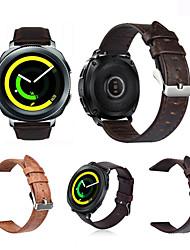 preiswerte -Uhrenarmband für Gear Sport Gear S2 Classic Samsung Galaxy Klassische Schnalle Echtes Leder Handschlaufe
