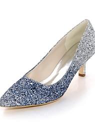 preiswerte -Damen Schuhe Paillette Frühling Sommer Pumps High Heels Stöckelabsatz Spitze Zehe für Hochzeit Party & Festivität Schwarz Fuchsia Blau