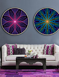 cheap -Abstract Illustration Wall Art, Plastic Material With Frame For Home Decoration Frame Art Living Room