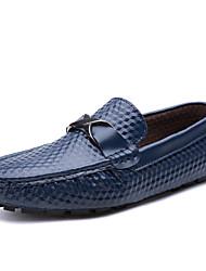 Недорогие -Муж. Искусственная кожа Весна / Лето Удобная обувь Мокасины и Свитер Белый / Черный / Синий
