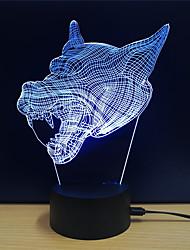 abordables -1set Veilleuse 3D Tactile 7 couleurs DC alimenté Soulagement de stress et l'anxiété Avec port USB Couleurs changeantes
