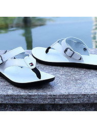 cheap -Men's Shoes PU Spring Summer Comfort Slippers & Flip-Flops for Casual White Black