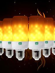 billige -YWXLIGHT® 6stk 5W 400-500lm E26 / E27 E12 / E14 B22 LED-globepærer T 99 LED Perler SMD 3528 Flamme Flimrende Dekorativ Varm Gul 85-265V