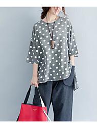 abordables -Mujer Borla - Algodón Camiseta Un Color Manga Farol