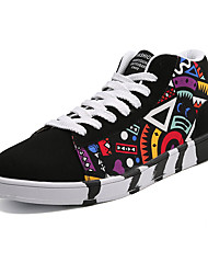 abordables -Homme Chaussures Polyuréthane Hiver Printemps Eté Automne Basket Marche pour Athlétique Décontracté Noir/Rouge Noir et Bleu Noir/blanc