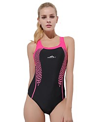 cheap -Women's One Piece Swimsuit Chlorine resistance, Comfortable, Sports Nylon / Spandex Sleeveless Swimwear Beach Wear Bodysuit Patchwork Swimming