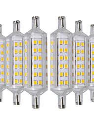 abordables -YWXLIGHT® 6pcs 6W 500-600lm R7S Ampoules Maïs LED 72 Perles LED SMD 2835 Blanc Chaud 220-240V