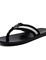cheap -Men's Shoes PU Fabric Spring Summer Comfort Slippers & Flip-Flops for Casual Black and White Black/Green