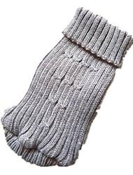 preiswerte -Hunde Pullover Hundekleidung Jacquard Grau Purpur Acryl Kostüm Für Haustiere Simple Style