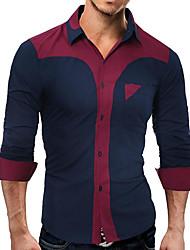 economico -Camicia Per uomo Moda città Basic, Monocolore