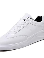 abordables -Homme Chaussures Polyuréthane Printemps Automne Moccasin Mocassins et Chaussons+D6148 Marche pour Décontracté Blanc Noir Rouge