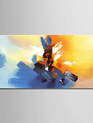 Ručno oslikana Sažetak Horizontalan, Moderna Platno Hang oslikana uljanim bojama Početna Dekoracija Jedna ploha