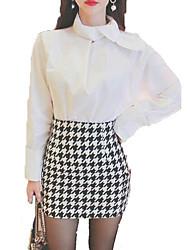 preiswerte -Damen Niedlich Aktiv Hemd - Solide, Schleife Quadratischer Ausschnitt