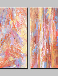 cheap -Hand-Painted Abstract Pop Art Vertical, Modern Canvas Oil Painting Home Decoration Two Panels