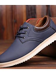 Недорогие -Муж. Комфортная обувь Полиуретан Весна / Осень Туфли на шнуровке Черный / Светло-желтый / Синий