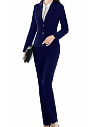 cheap -Women's Business Suits-Solid Colored