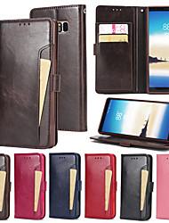 abordables -Funda Para Samsung Galaxy Nota 8 Cartera / Soporte de Coche / con Soporte Funda de Cuerpo Entero Un Color Dura Cuero de PU para Note 8