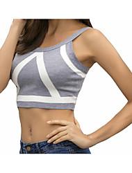 baratos -parte superior do tanque de algodão básico das mulheres em volta do pescoço