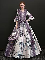 abordables -Conte de Fée Costume de père noël Renaissance Costume Femme Robes Costume Bal Masqué Costume de Soirée Tenue Blanc Noir Vintage Cosplay