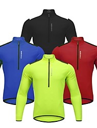 cheap -WOSAWE Long Sleeve Cycling Jersey - Red / Green / Blue Bike Jersey, Reflective Strips