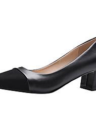 Недорогие -Жен. Обувь Замша Весна / Лето Удобная обувь Обувь на каблуках На толстом каблуке Оксфорды Бежевый / Серый / Вино