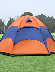 cheap -Sheng yuan 3-4 persons Tent Double Camping Tent One Room Fold Tent Anti-Insect Oversized Breathability for Hiking Camping 1500-2000 mm