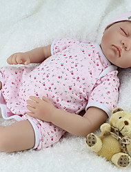 cheap -NPK DOLL Reborn Doll Baby 22 inch Silicone / Vinyl - lifelike, Hand Applied Eyelashes, Tipped and Sealed Nails Kid's Unisex Gift / Natural Skin Tone / Floppy Head