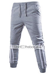 cheap -Men's Cotton Sweatpants Pants - Striped Basic Print