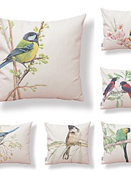 cheap -6 pcs Textile Cotton/Linen Modern/Contemporary Pillow case Pillow Cover, Art Deco Special Design Animal Artistic Style Patterned