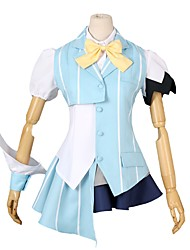 cheap -Inspired by Macross Frontier Cosplay Anime Cosplay Costumes Cosplay Suits Other Short Sleeves Shirt Top Pants Socks Bow More Accessories