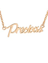 cheap -Women's Pendant Necklace  -  Inspirational Fashion Precious Gold Silver Necklace For Daily Date