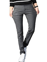 abordables -Hombre Algodón Traje Pantalones - Cuadrícula