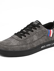 baratos -Homens sapatos Pele Primavera Outono Conforto Mocassins e Slip-Ons para Casual Preto Cinzento Marron