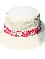 Недорогие -Шляпа от солнца Кепка с защитой от UV-лучей Кепка для рыбалки Устойчивость к УФ Лето Белый Универсальные Рыбалка Пешеходный туризм На открытом воздухе Цветочные / ботанический / Хлопок